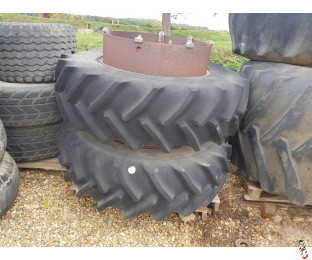 STOCKS DUAL WHEELS 16.9 x 34 with 70% Tyres