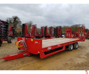 JPM Lowloader Plant Trailer, 15 tonne Carry, 24ft, Air & Oil Brakes, 2020