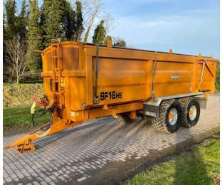 RICHARD WESTERN SF16HS 16t Grain trailer, 2018, Rollover, Air/Oil Brakes