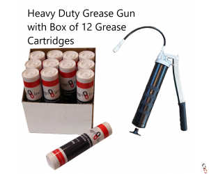 Heavy Duty Grease Gun with Box of 12 General Purpose Grease Cartridges: Bundle