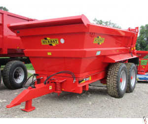 HERBST Dump Trailer 14 tonne, Hi-Side, Sprung Drawbar, New