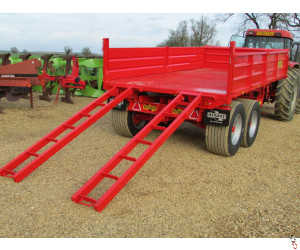 HERBST Dropside Plant Trailer, 10 tonne Tipper, New - Waiting For More Stock