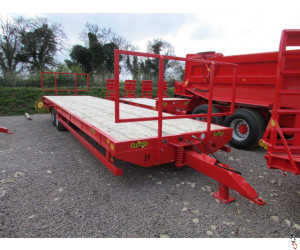 HERBST Bale Trailer 28ft Heavy Duty, 19T Gross - New - In Stock in Herbst Red