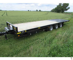 HERBST Lowloader Tri-Axle 27T Gross, Hyd Beavertail Trailer - New
