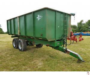 BRIAN LEGG 14 tonne Grain Trailer, Rollover sheet, grain chute