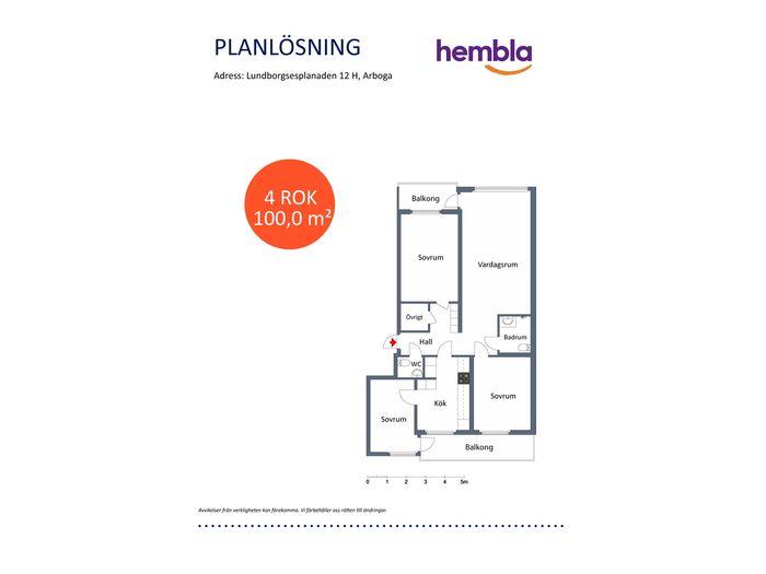 Lägenhet på Lundborgsesplanaden 12H i Arboga