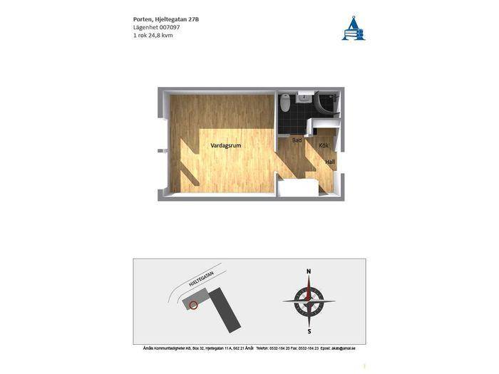Lägenhet på  i Åmål