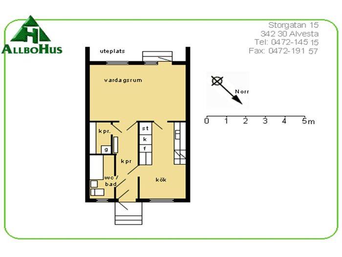 Lägenhet på Hembygdsvägen 1G i Alvesta