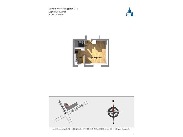 Lägenhet på Västerlånggatan 23D i Åmål