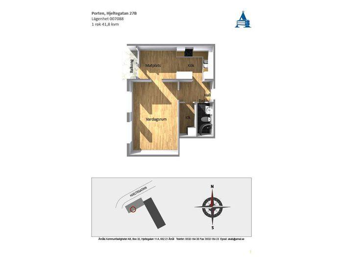 Lägenhet på Hjeltegatan 27B i Åmål