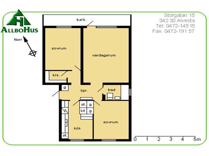 Lägenhet på Norrgatan 12 i Alvesta