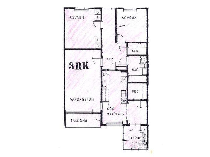 Lägenhet på Vintergatan 8C i Bjuv