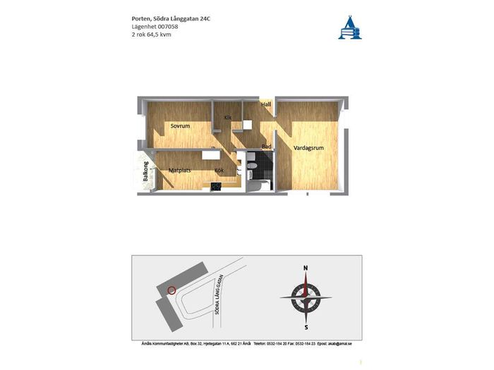 Lägenhet på Södra Långgatan 24C i Åmål