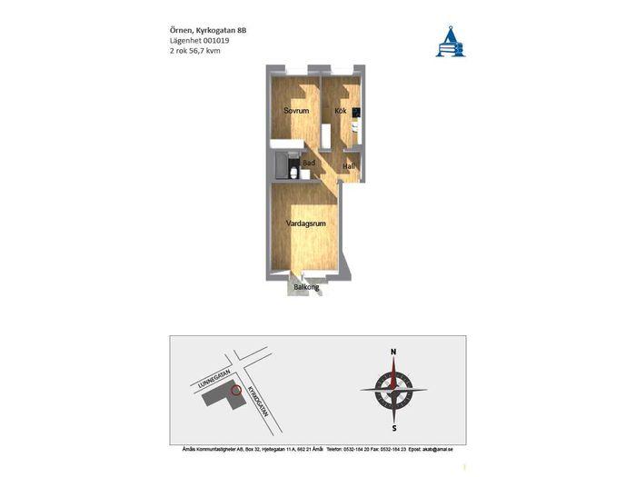Lägenhet på Kyrkogatan 8B i Åmål