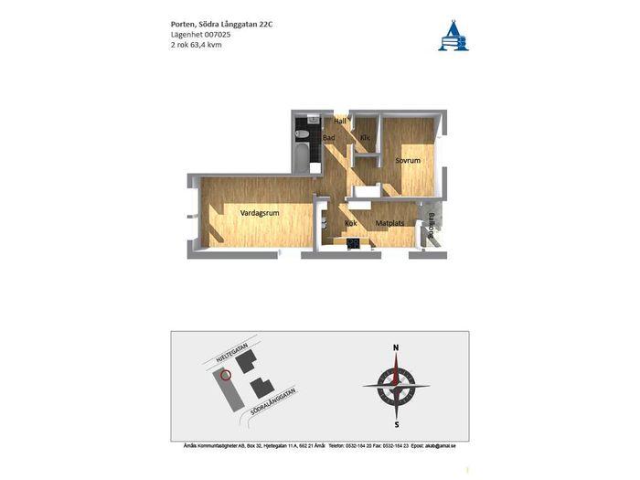 Lägenhet på Södra Långgatan 22C i Åmål