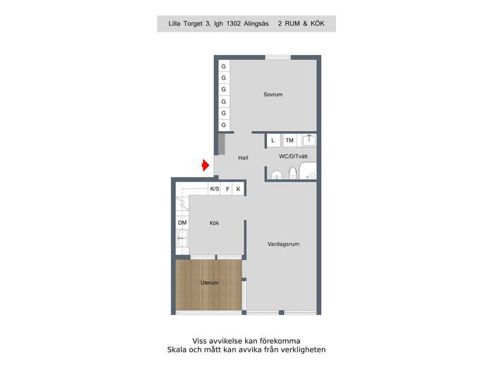 Lägenhet på Lilla Torget 3 i Alingsås