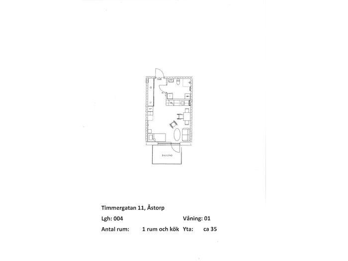 Lägenhet på Timmergatan 11 i Åstorp