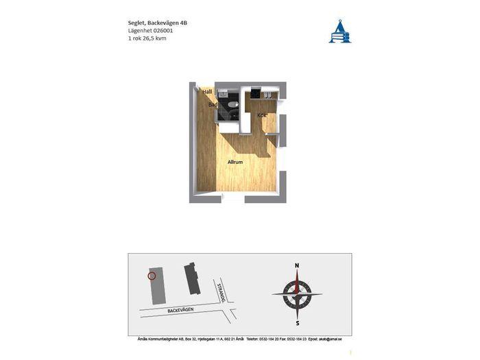 Lägenhet på Backevägen 4B i Åmål