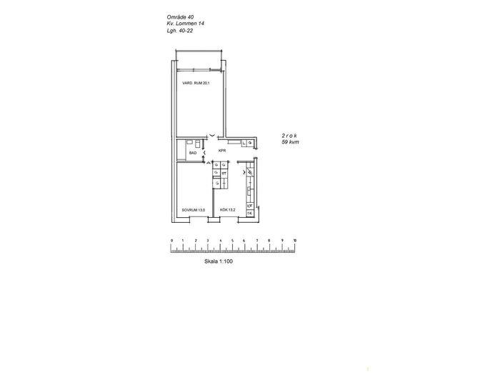 Lägenhet på Stationsgatan 17C i Arvidsjaur