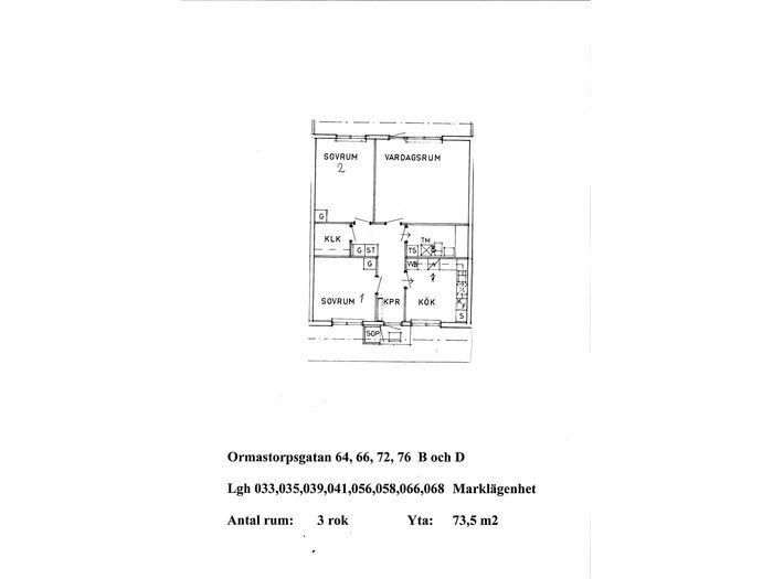 Lägenhet på Ormastorpsgatan 66D i Åstorp