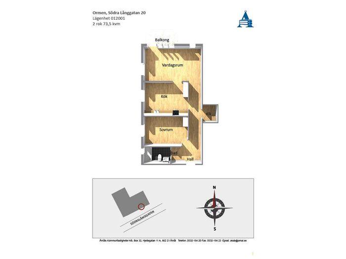 Lägenhet på Södra Långgatan 20 i Åmål
