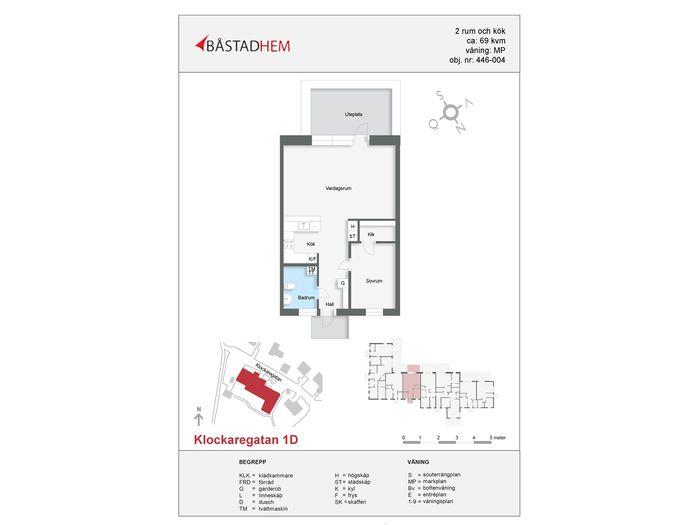 Lägenhet på Klockaregatan 1D i Båstad