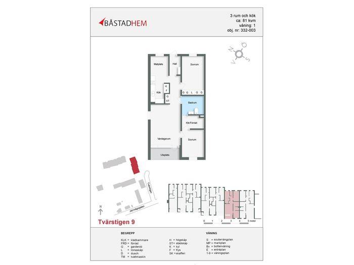 Lägenhet på Tvärstigen 9 i Båstad