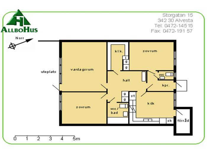 Lägenhet på Sockenvägen 5F i Alvesta