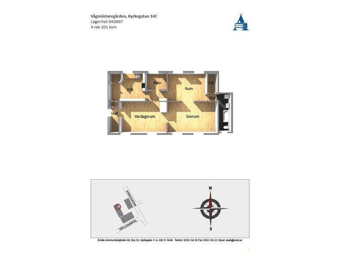 Lägenhet på Kyrkogatan 14C i Åmål