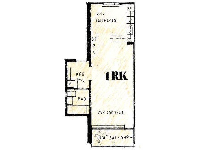 Lägenhet på Vintergatan 1E i Bjuv