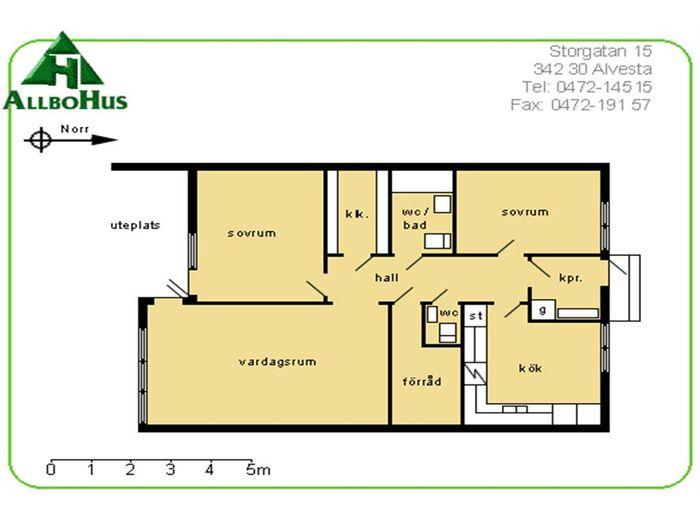 Lägenhet på Sockenvägen 9H i Alvesta
