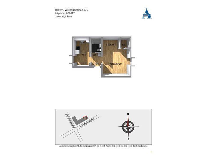 Lägenhet på Västerlånggatan 23C i Åmål