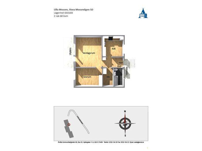 Lägenhet på Stora Mossevägen 5D i Åmål