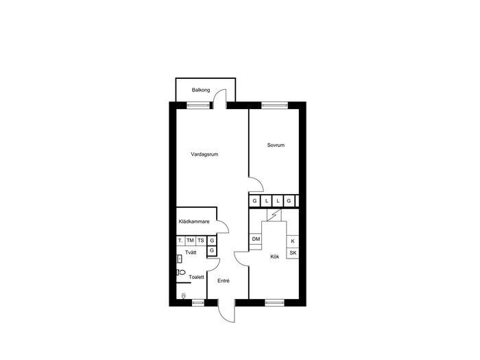 Lägenhet på Östergatan 8B i Bollnäs
