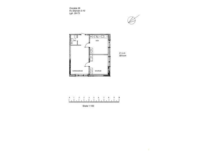 Lägenhet på Nygatan 26 i Arvidsjaur