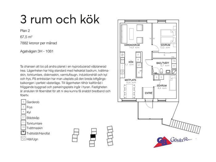 Lägenhet på Agatvägen 3 i Båstad