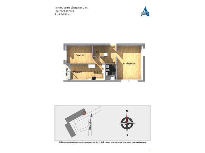 Lägenhet på Södra Långgatan 24A i Åmål