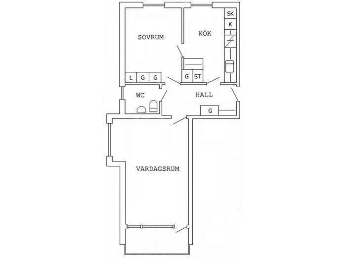 Lägenhet på Smedjegatan 3B i Boden