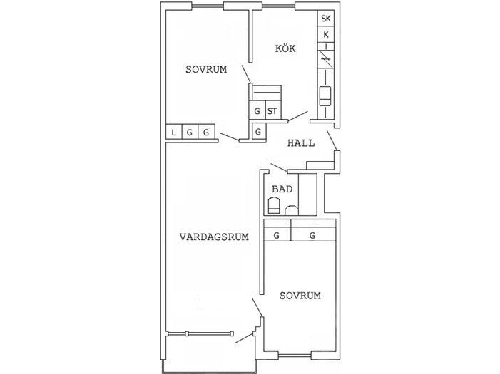 Lägenhet på Smedjegatan 1B i Boden