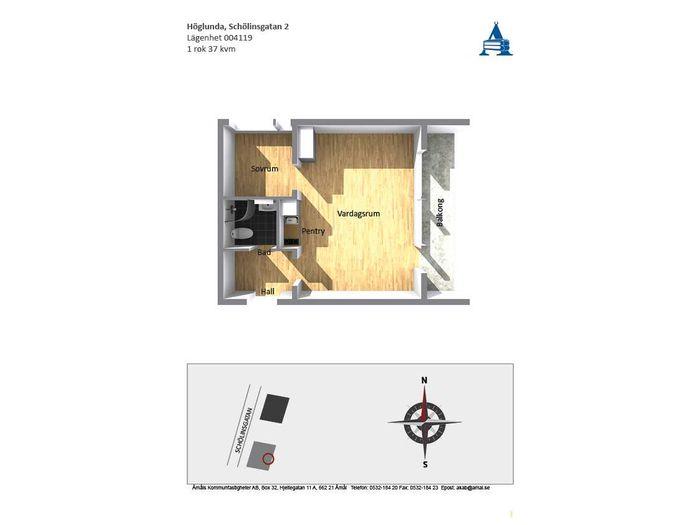 Lägenhet på Schölinsgatan 2 i Åmål