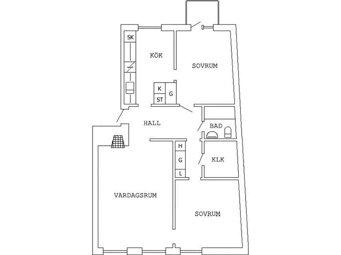 Lägenhet på Kungsgatan 26B i Boden