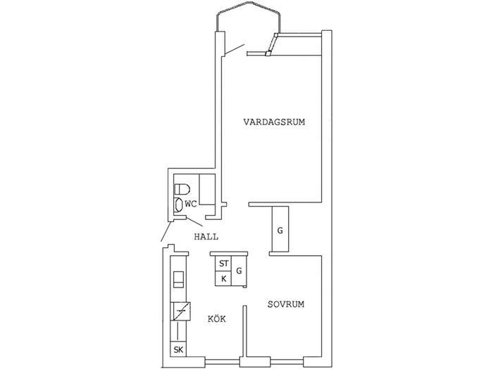 Lägenhet på Garvaregatan 2B i Boden