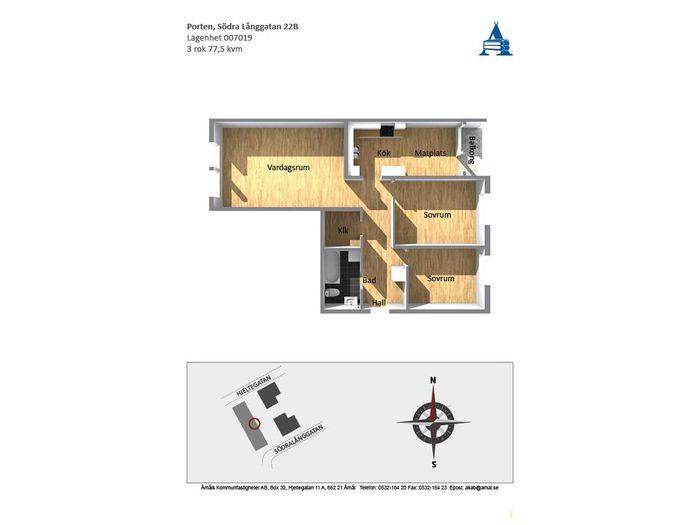 Lägenhet på Södra Långgatan 22B i Åmål