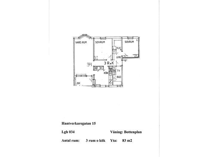 Lägenhet på Hantverkaregatan 15 i Åstorp