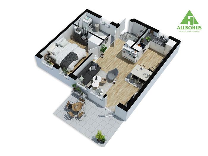 Lägenhet på Taggvägen 12 i Alvesta