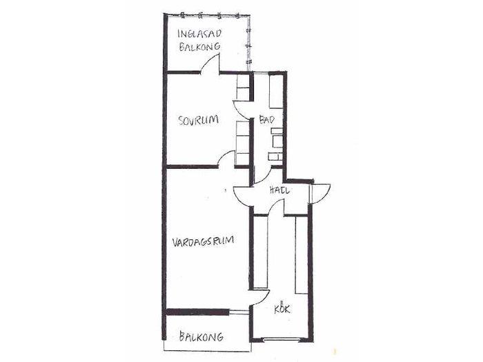 Lägenhet på Vintergatan 2A i Bjuv