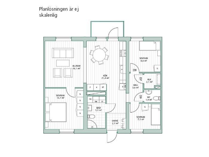 Lägenhet på Huldas väg 3 L i Båstad