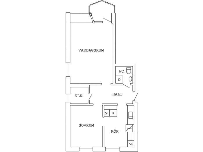 Lägenhet på Garvaregatan 2C i Boden