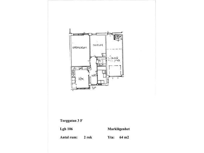 Lägenhet på Torggatan 3F i Åstorp