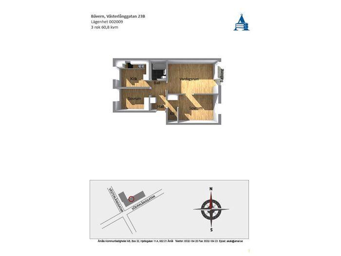 Lägenhet på Västerlånggatan 23B i Åmål